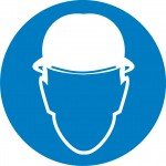 М02 Работать в защитной каске (шлеме)