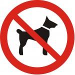 P14 Запрещается вход (проход) с животными