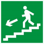 3.2.3б Направление к эвакуационному входу по лестнице вниз
