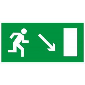 3.2.7. Направление к эвакуационному выходу направо вниз