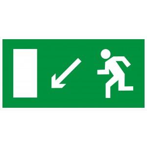 3.2.8. Направление к эвакуационному выходу налево вниз